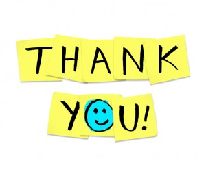 Thank You - Words on Yellow Sticky Notes