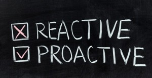 Chalk drawing - Reactive or proactive