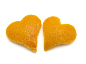 Two Orange Hearts
